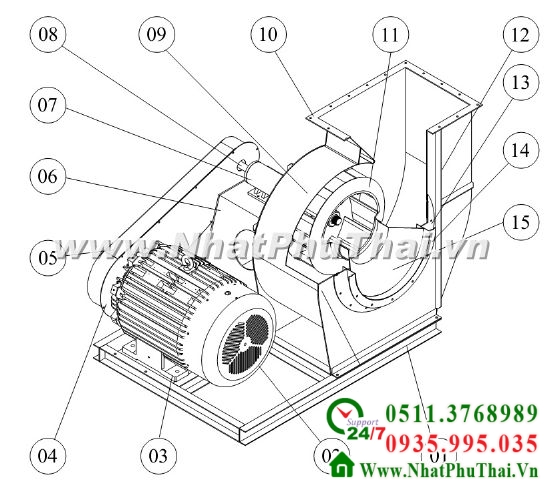 Thiết kế chế tạo quạt công nghiệp - Hình 01
