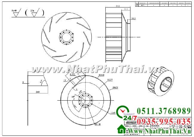 Thiết kế chế tạo quạt công nghiệp - Hình 03